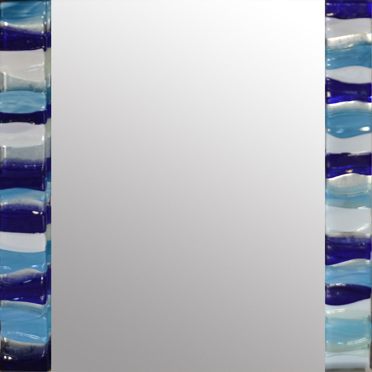 Aqua Ripple Square Mirror By Spires Studio - Mail Order Art