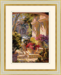 Flowered Courtyard By Betty Carr - Mail Order Art