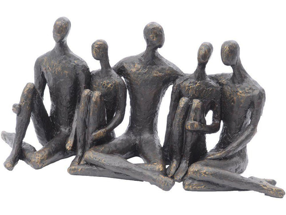 Togetherness Sitting Group Sculpture
