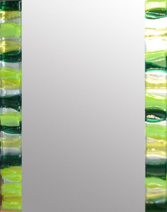 Emerald Ripple Rectangle Mirror By Spires Studio - Mail Order Art