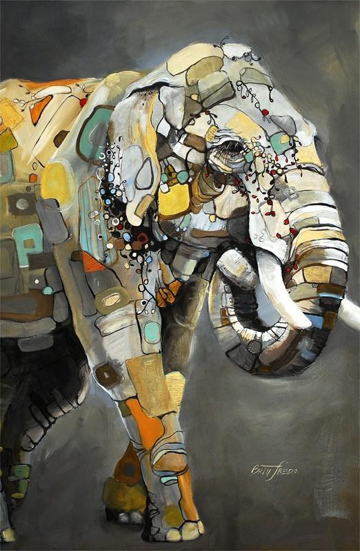 Asian Elephant By Britt Freda - Mail Order Art