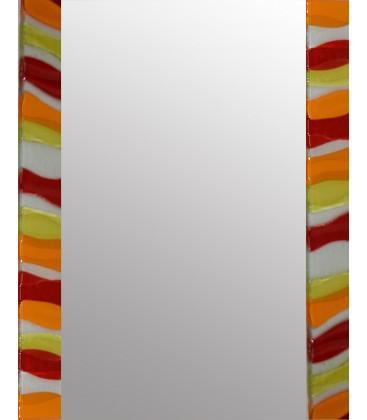 Amber Ripple Rectangle Mirror By Spires Studio - Mail Order Art