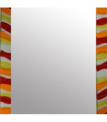 Amber Ripple Square Mirror By Spires Studio - Mail Order Art