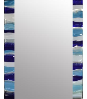 Aqua Ripple Rectangle Mirror By Spires Studio - Mail Order Art