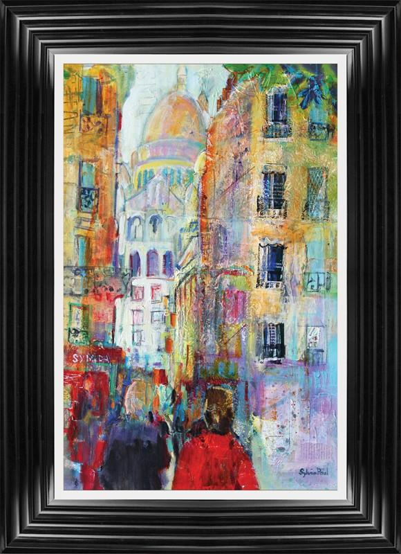 An Evening Walk To Sacre Coeur By Sylvia Paul - Mail Order Art