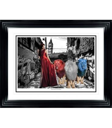 Three Lions On The Street By Spires Studio - The Crosshill Gallery