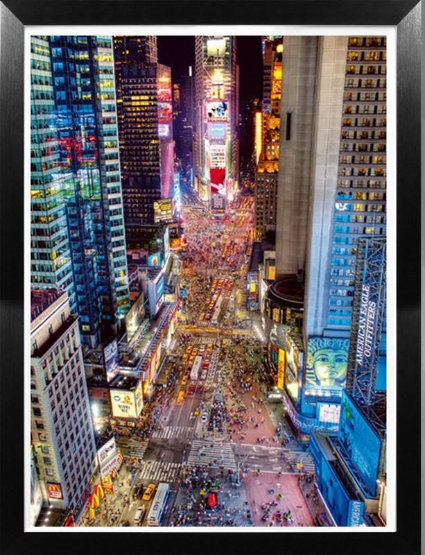 Times Square At Night By Aurélien Terrible - The Crosshill Gallery