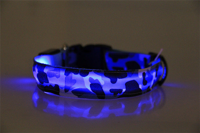 Collier lumineux LED camouflage