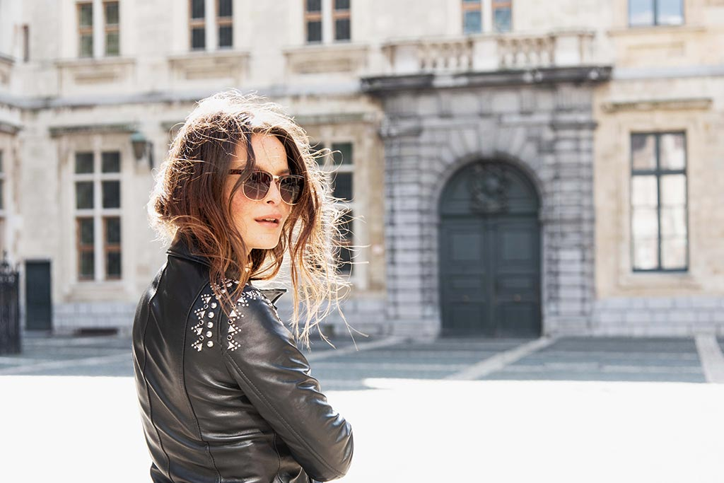 LES ICÔNES LEATHER STUDDED JACKET SPRING COLLECTION