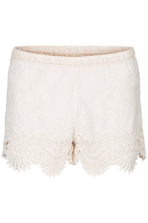 Beige crochet summer short