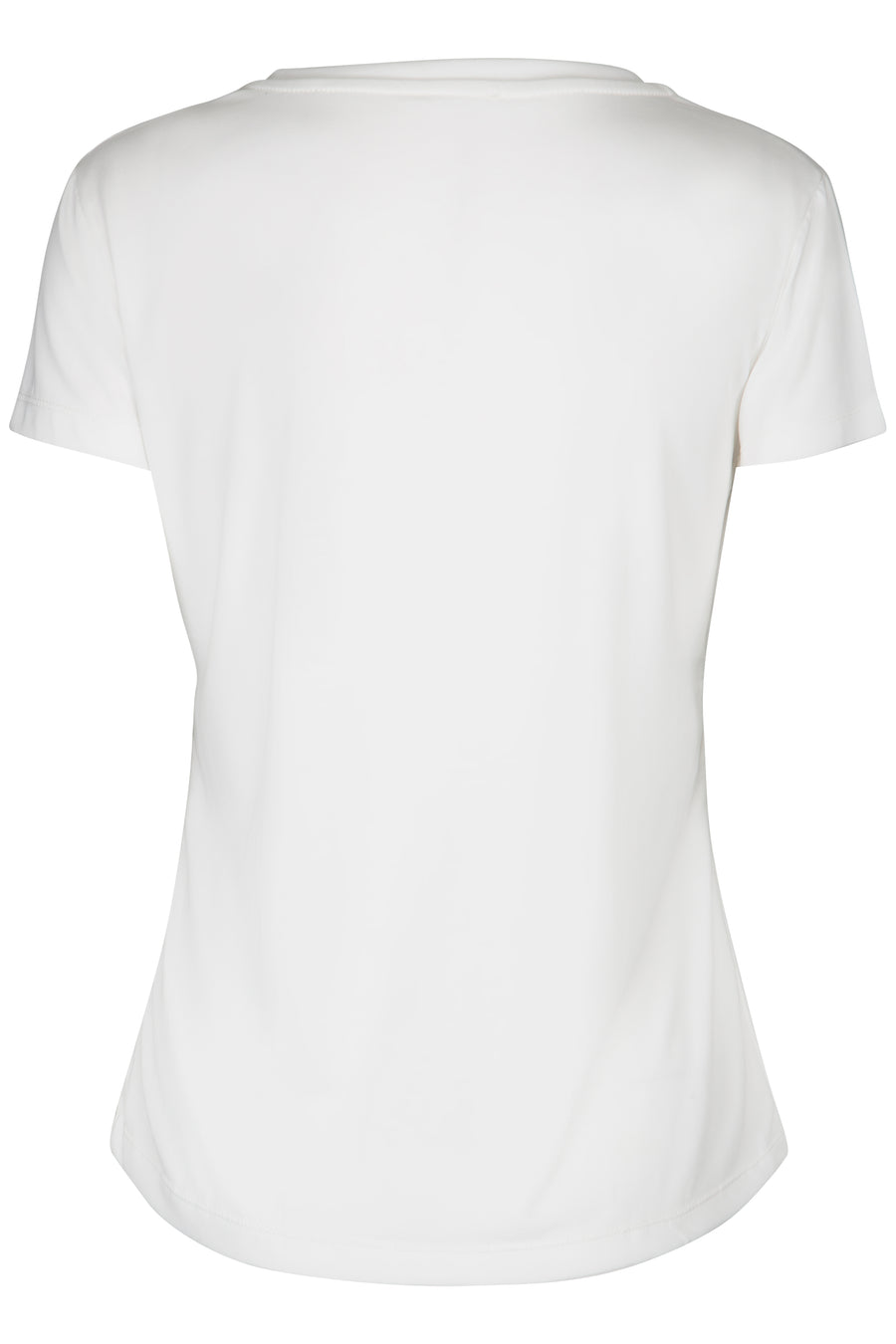 Off white v neck t'shirt ladies with woman print artwork