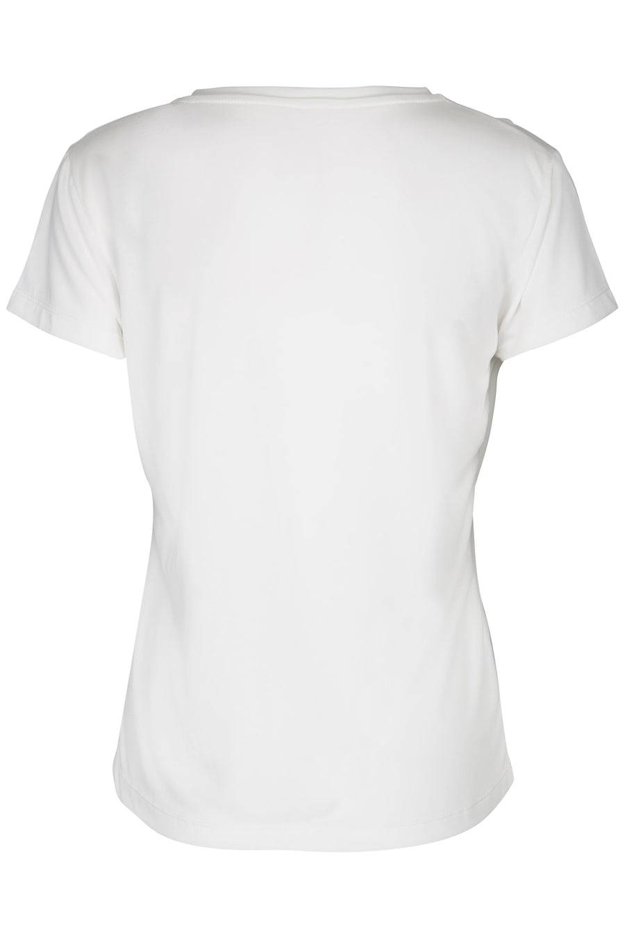 off white basic v neck t'shirt ladies