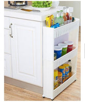 Tier Slim Wheel Space Saver Kitchen Rack