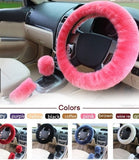 Car Decoration Steering Wheel Handbrake Gear Cover