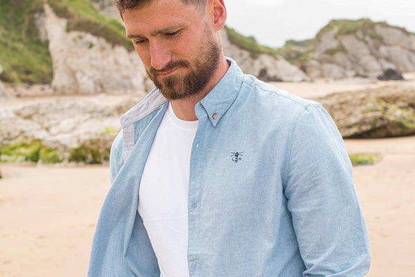 Men's Tide Shirt - Light Oxford.
