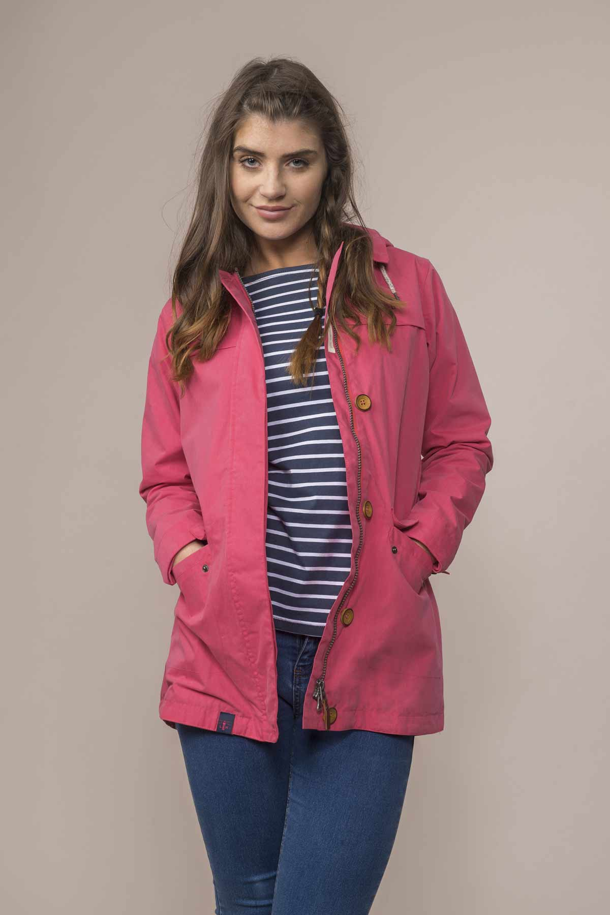 Lighthouse Abby scarlet women's waterproof coat