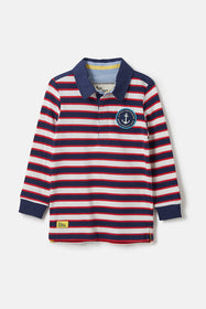 Alfie Rugby Shirt - Eclipse Stripe
