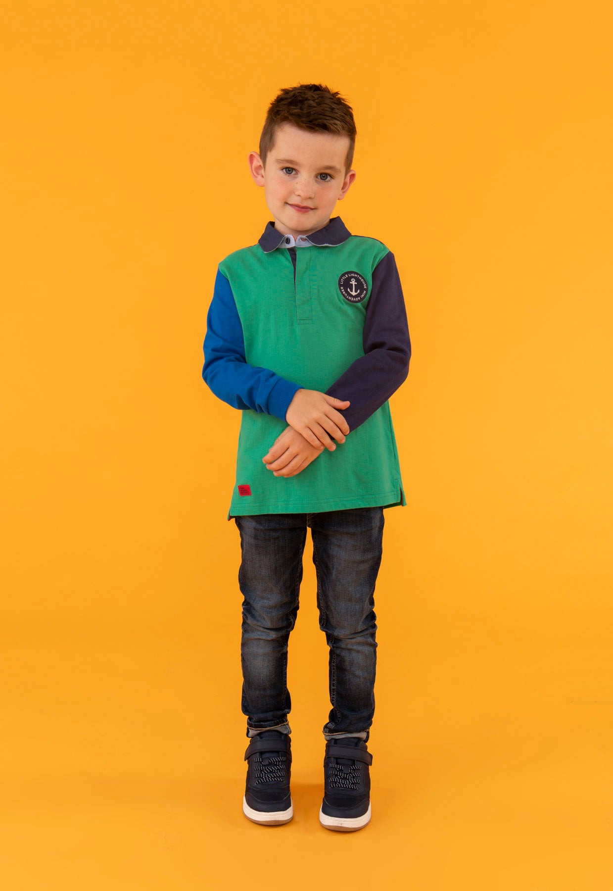 Alfie Top - Green, Boy's Long Sleeve Top | Lighthouse
