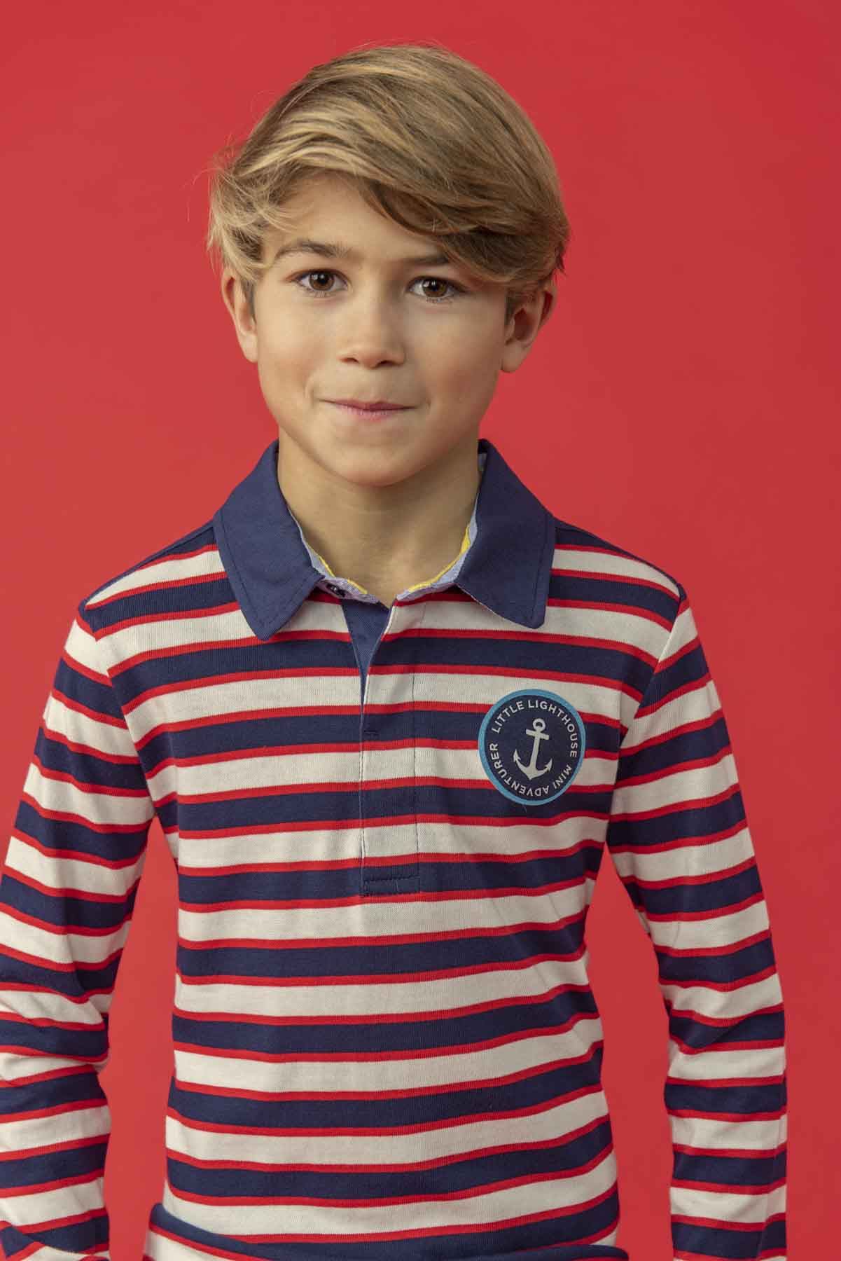 Alfie Boys Striped Rugby Shirt