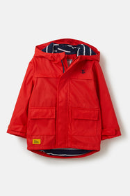 Anchor Jacket. Boy's Yellow Rubber Raincoat | Lighthouse