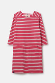 Annabelle Dress - Scarlet Stripe