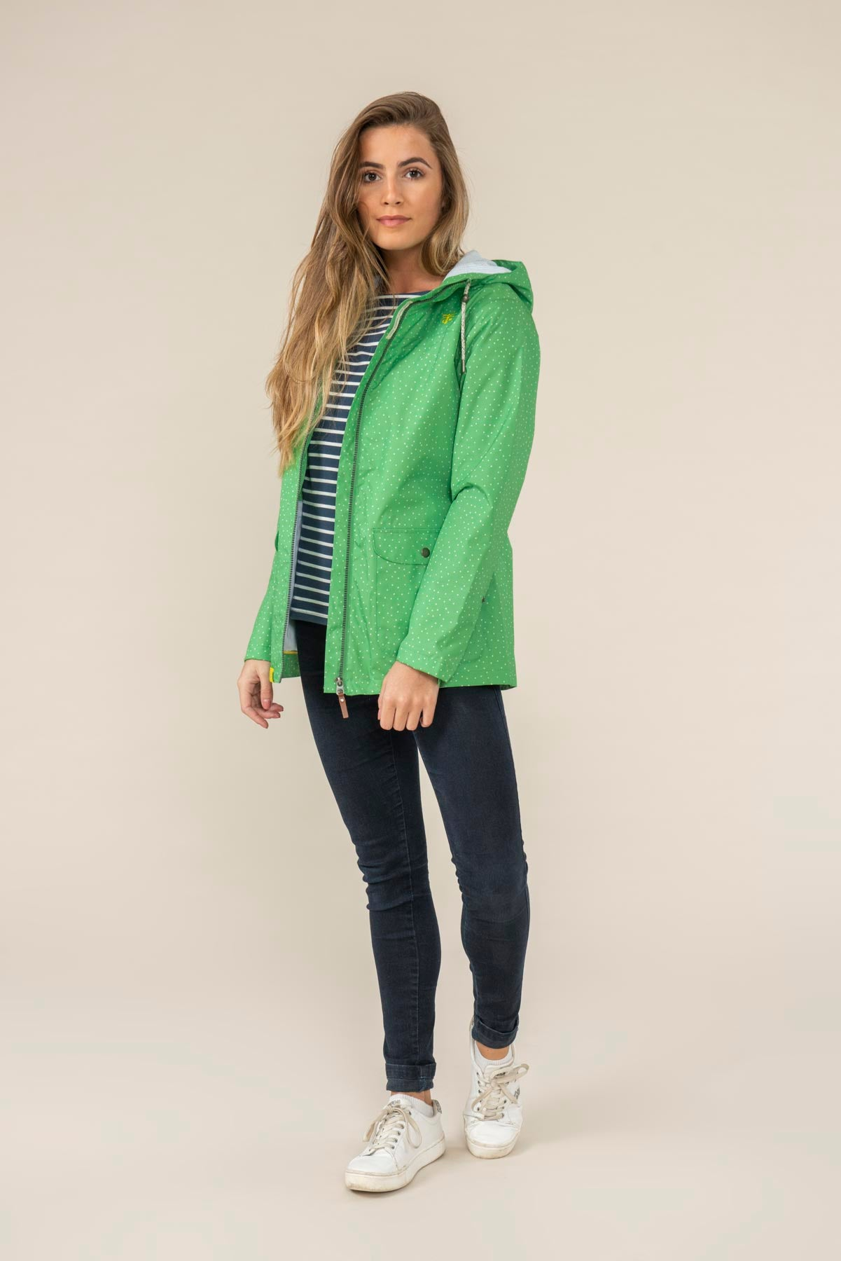 Anya Jacket - Seagrass Dot