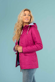 Aria Coat - Jazzberry Dot