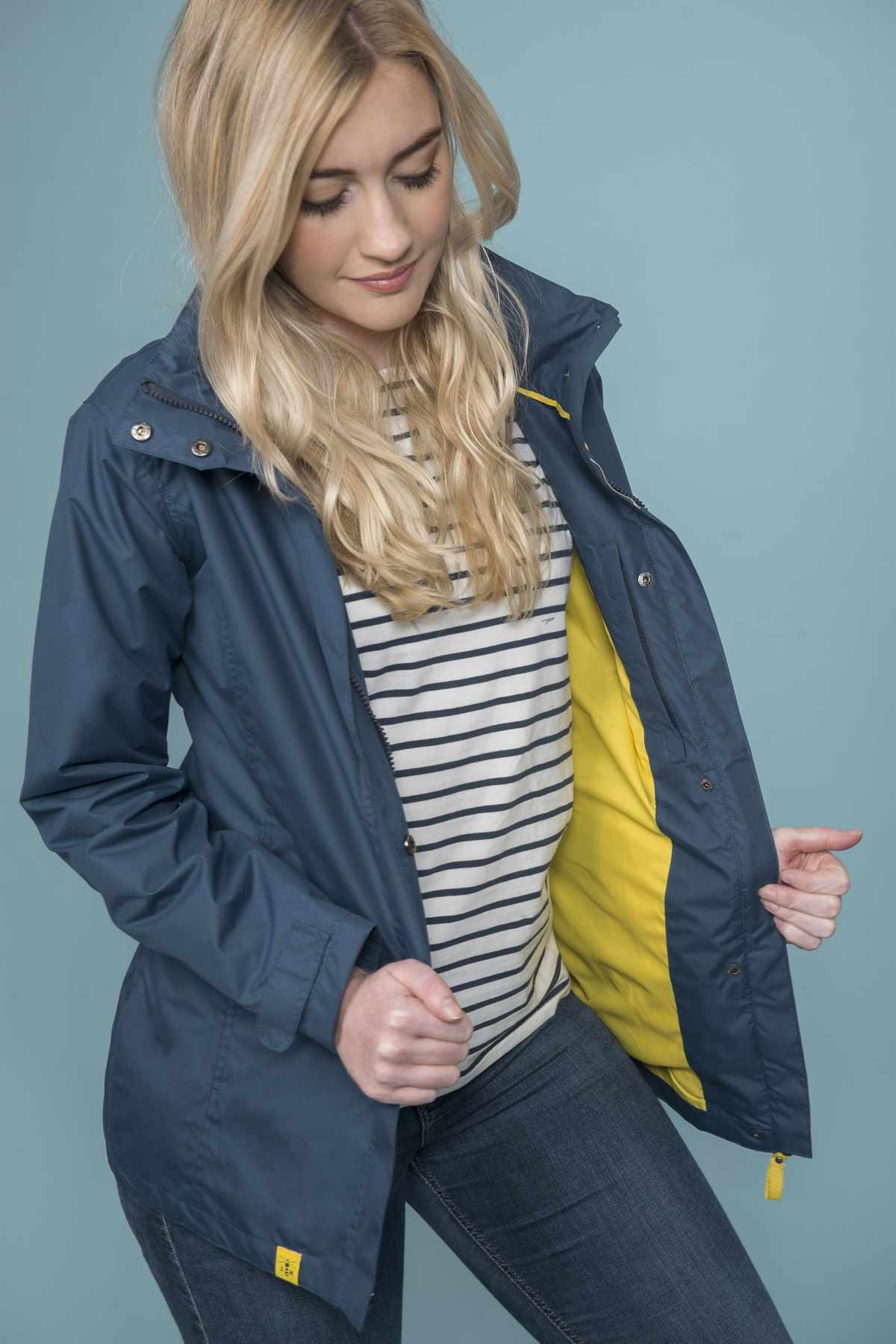 Lighthouse Beachcomber women's navy waterproof coat