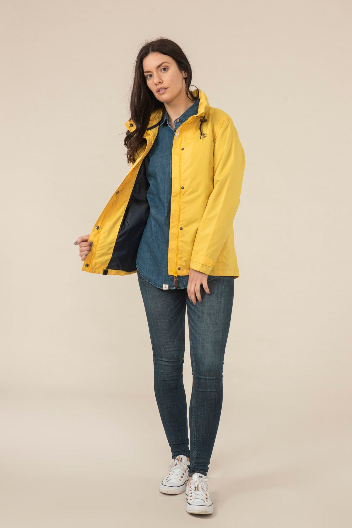 Women's Coats - Beachcomber - Yellow Raincoat