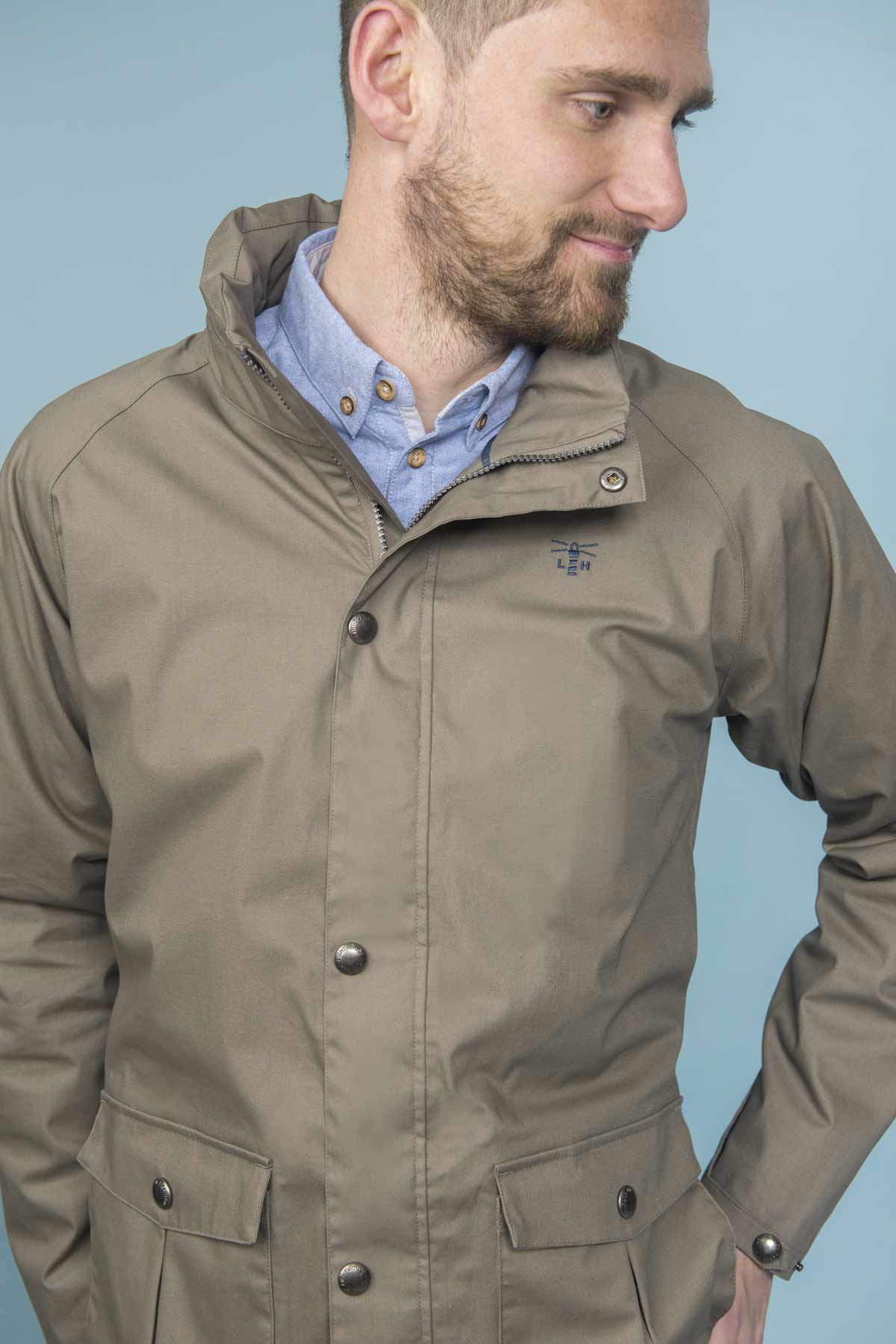 Lighthouse Benone driftwood men's waterproof coat