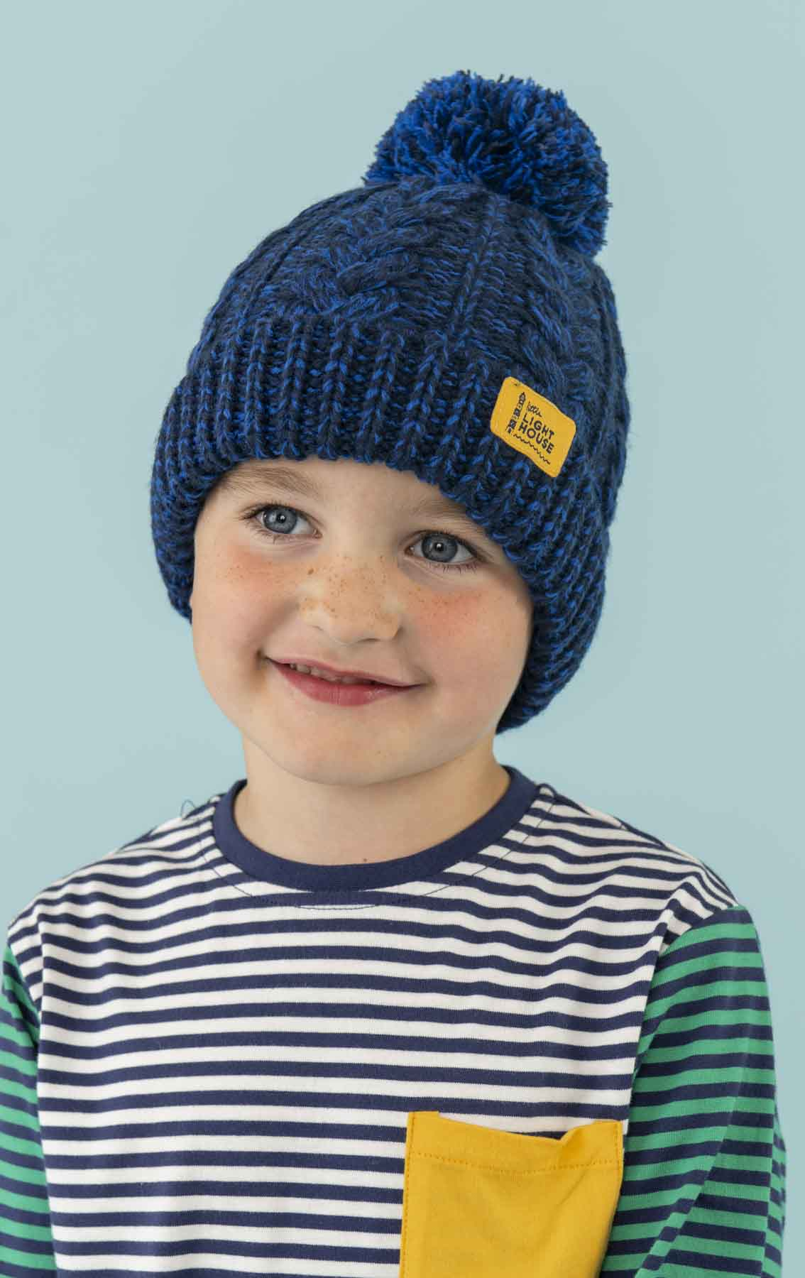 ff5552f36f4 Bobbie Bobble Hat. Boy s Cable Knit Hat