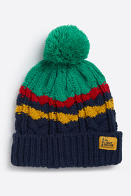 Bobbie Bobble Hat - Pea Green Eclipse Cable