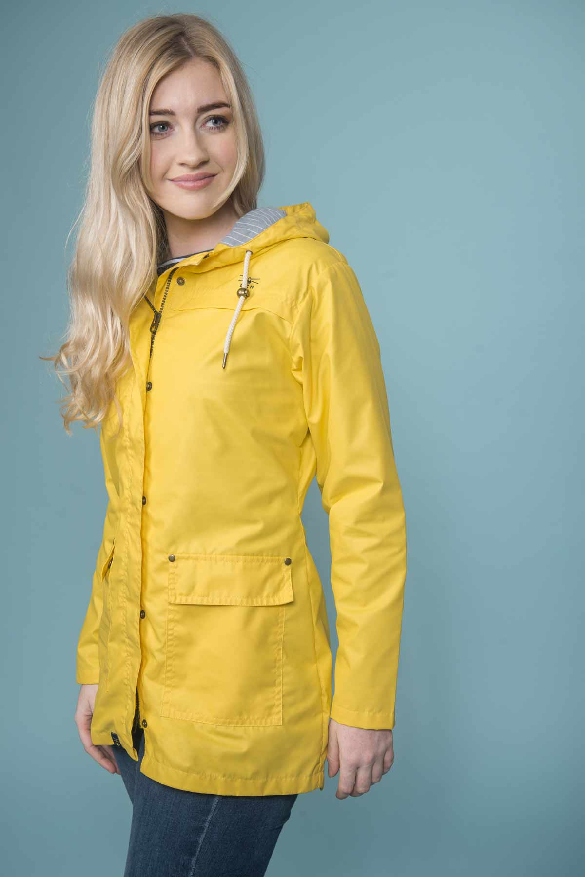 Lighthouse Bowline dandelion rubberised jacket