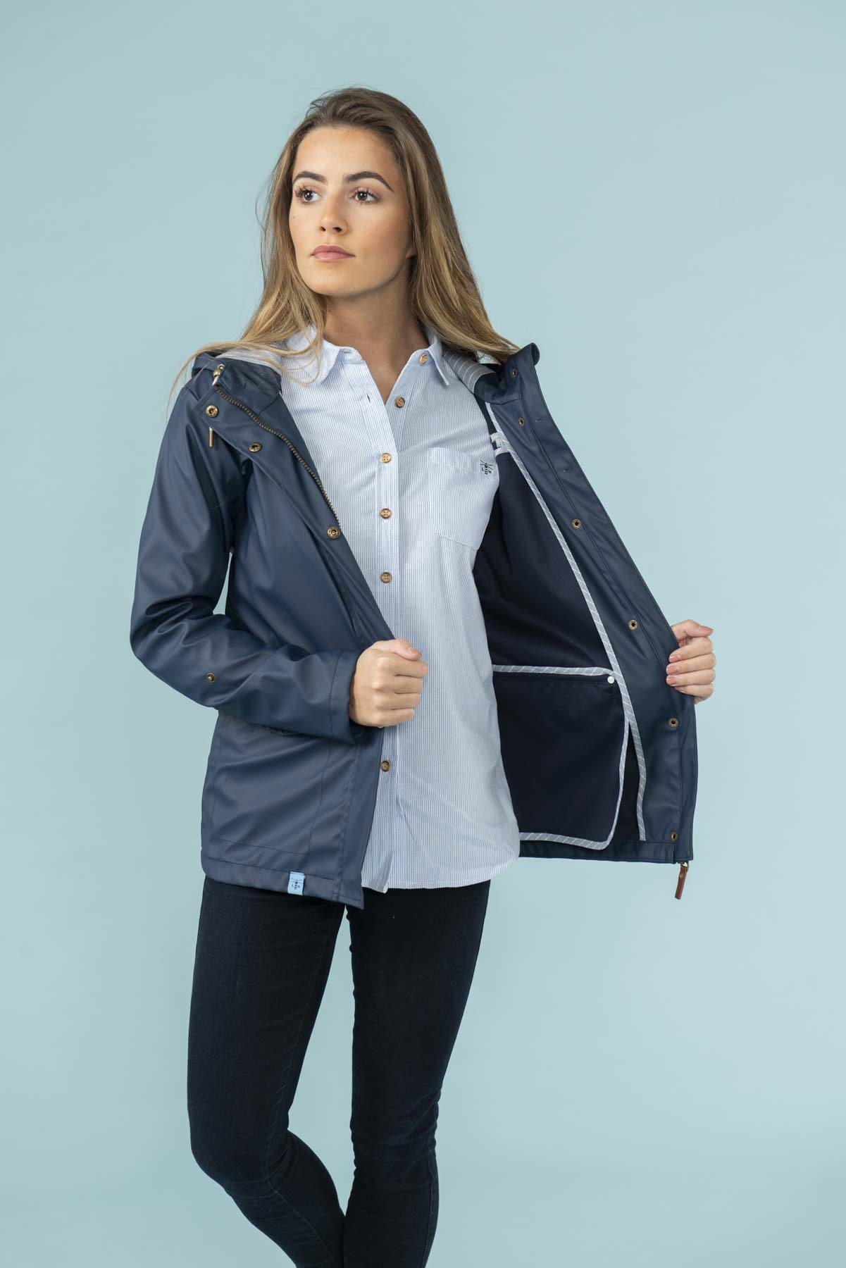 Women's Coats - Bowline - Navy Raincoat