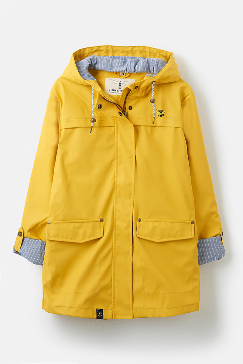 Women's Coats - Bowline - Yellow Raincoat