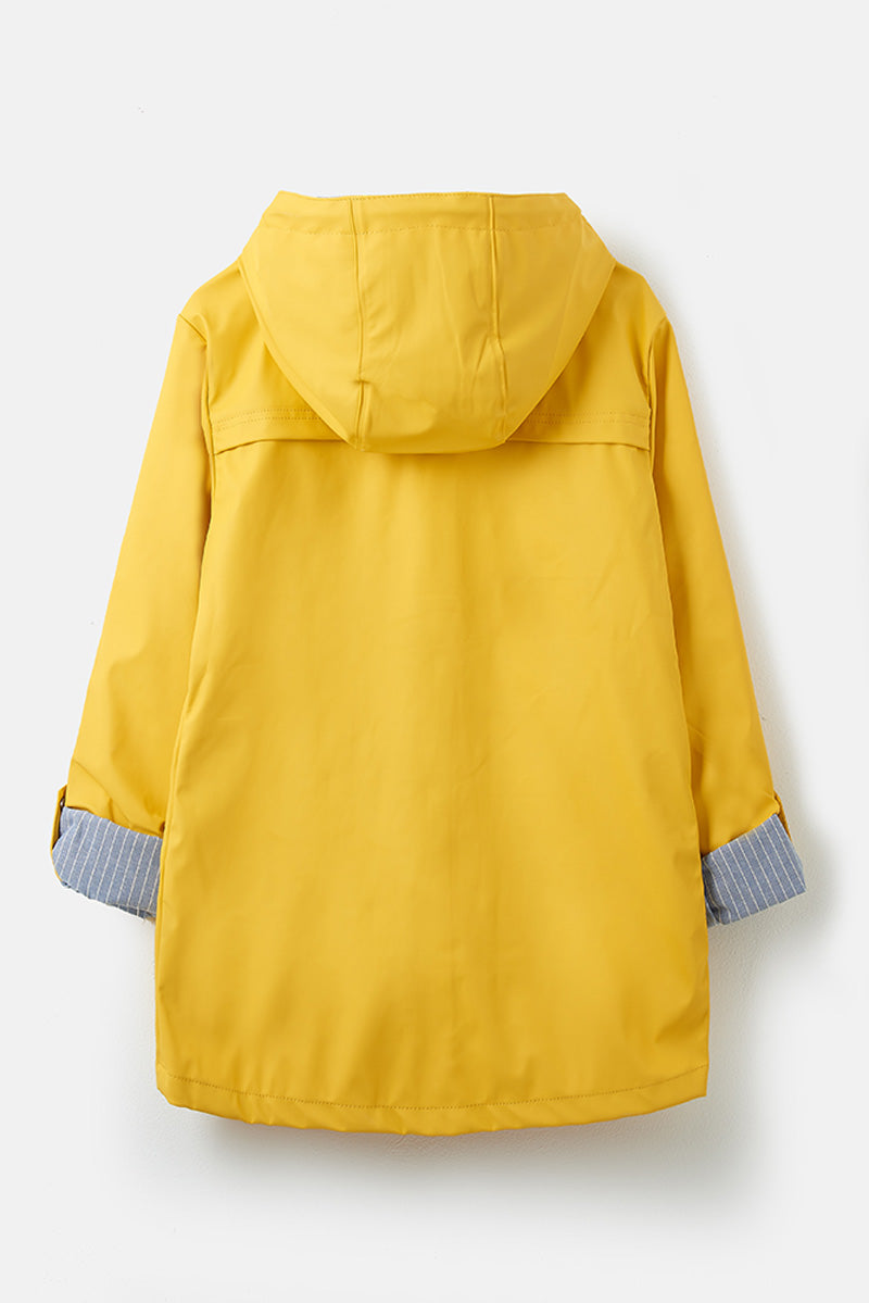 Bowline Women's Short Rubber Raincoat - Hanger Shot