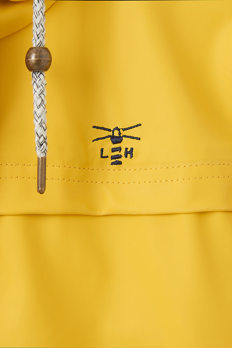 Bowline Women's Short Rubber Raincoat - Detail Shot