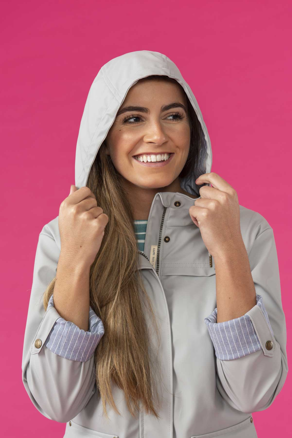 Women's Coats - Bowline - Grey Raincoat