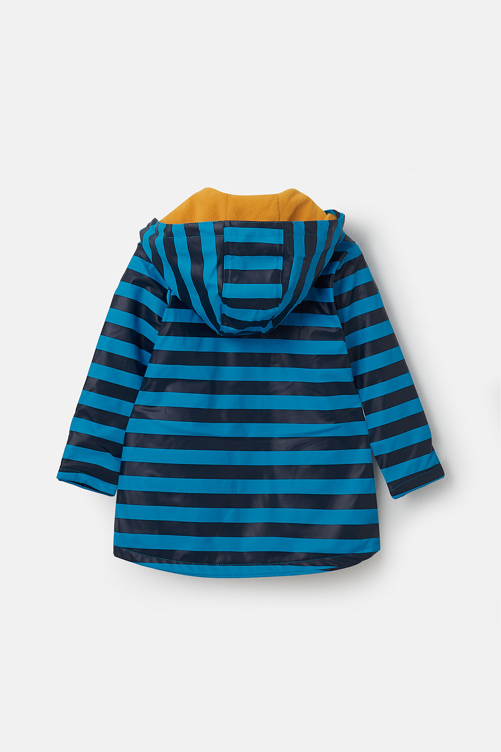 Lighthouse Adam Boys Waterproof Rubber Raincoat - Blue Navy Stripe