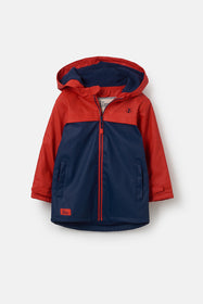 Adam Coat - Red Navy Solid