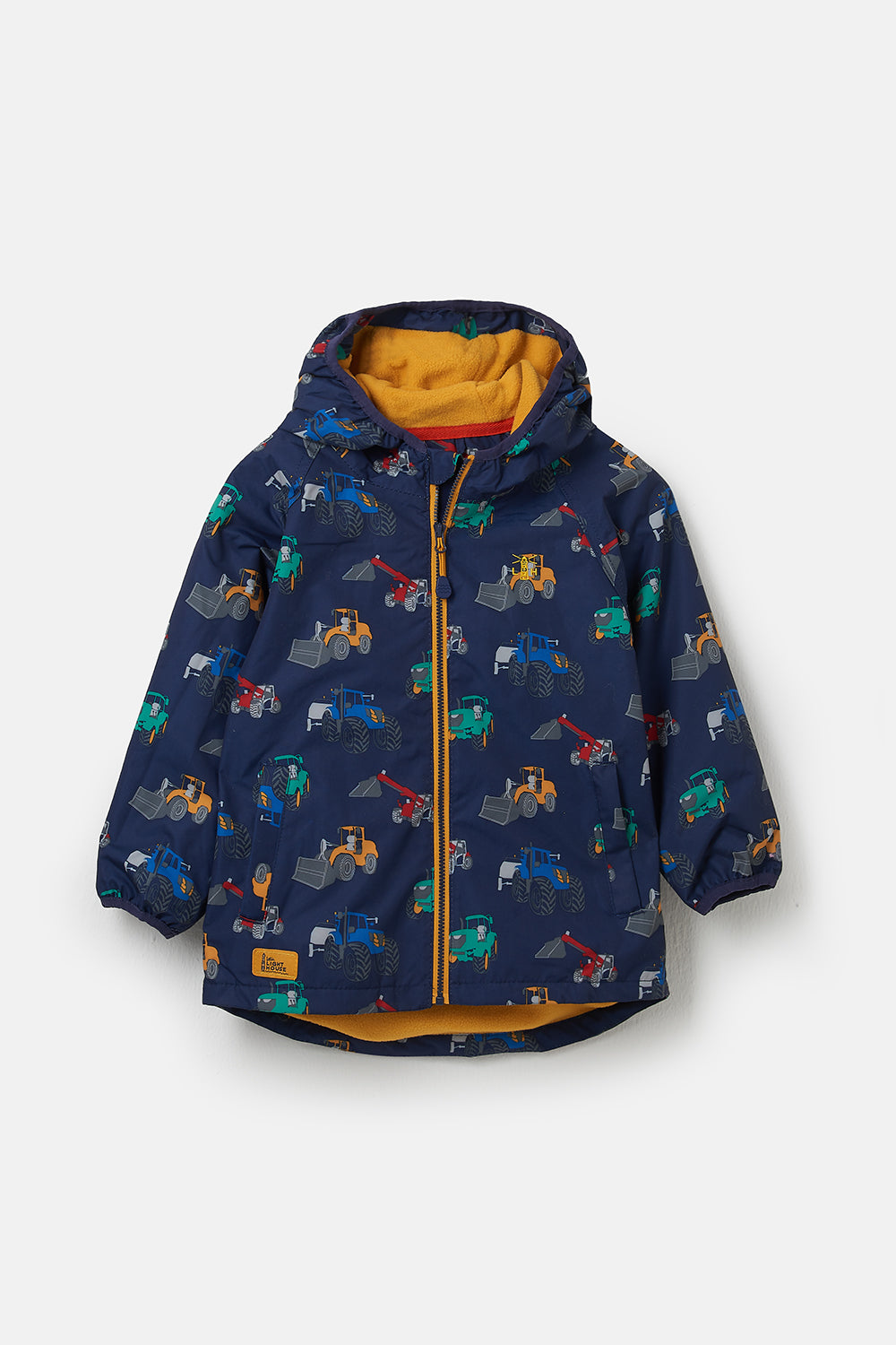 Lighthouse Lucas Boys Warm Waterproof Raincoat - Tractor Print