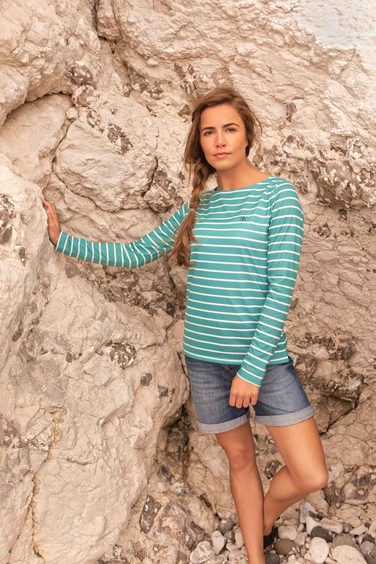 Causeway Top - Teal - Lifestyle