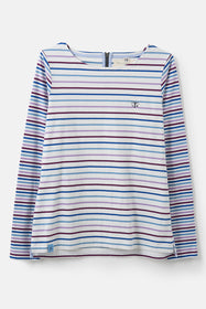 Causeway Breton Top - Purple Blue Stripe