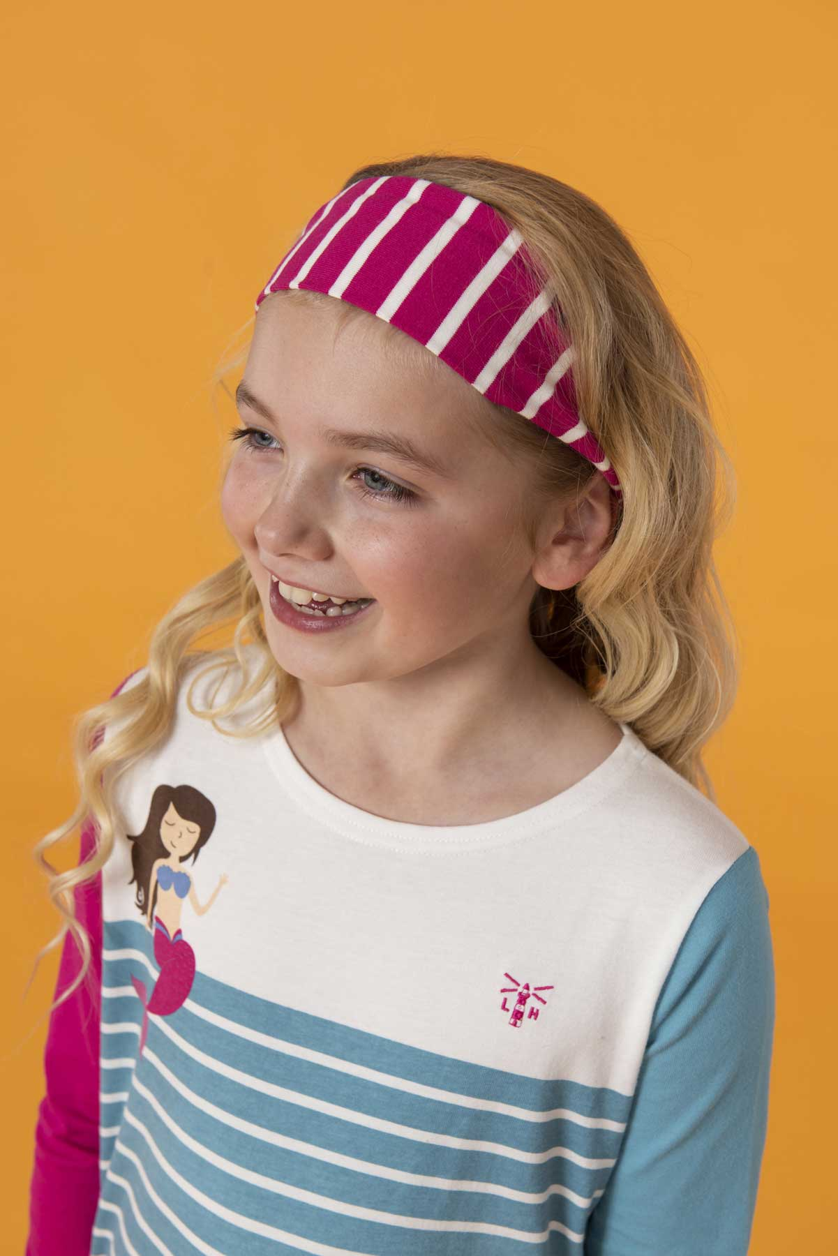 Girl's Accessories - Pink striped headband