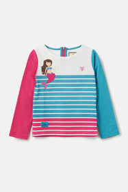 Causeway Top - Stripe Mermaid Print