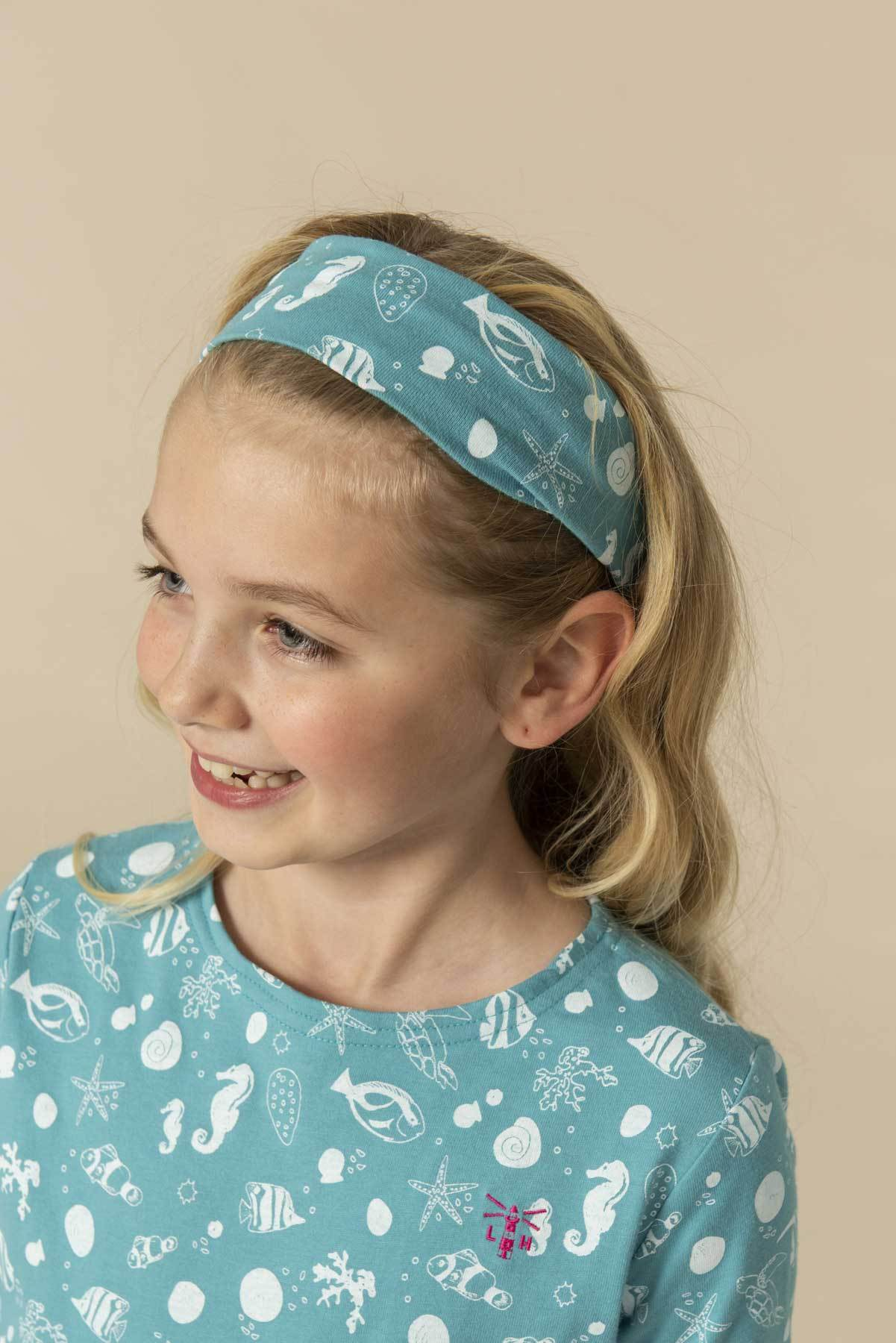 Girl's Accessories - Pack of 3 Headband - Pink Stripe, Mermaid, Seashell Print