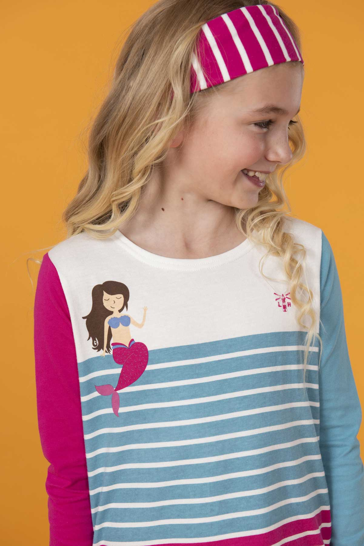 Girl's Tops - Causeway - Mermaid striped top