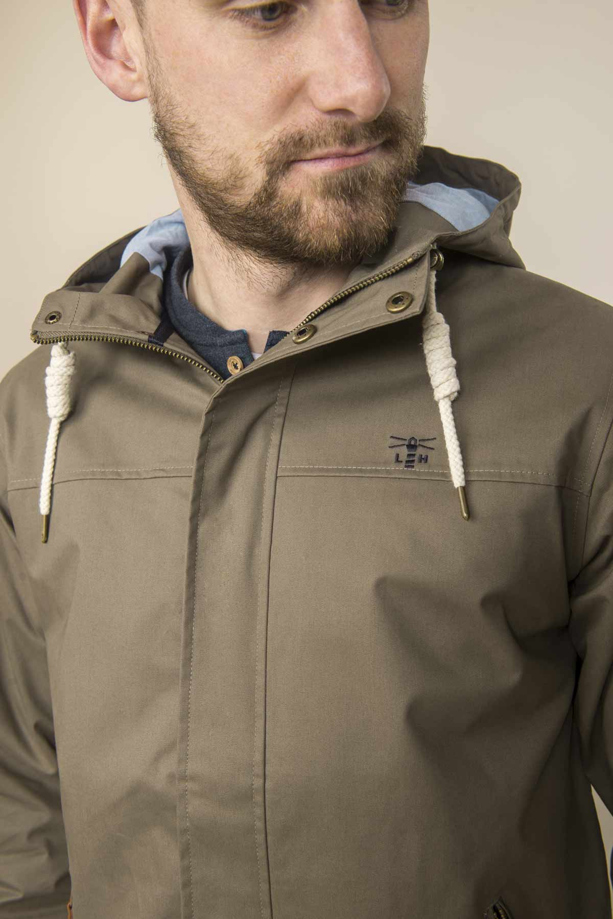 Lighthouse Drifter driftwood men's waterproof jacket