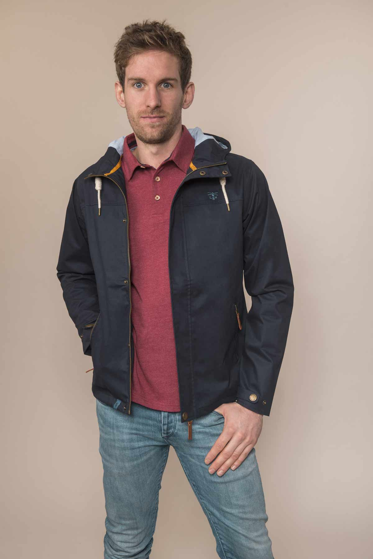 Lighthouse Drifter navy men's waterproof jacket