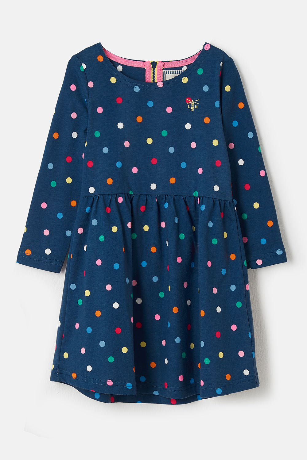 Lighthouse Ellie - Girl's Cotton Dress - Dot Print